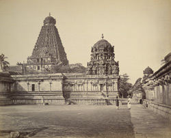 The great Pagoda at Tanjore with corridor on the northern side.